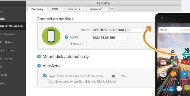 Features to be found in a syncing app between Archos and Mac