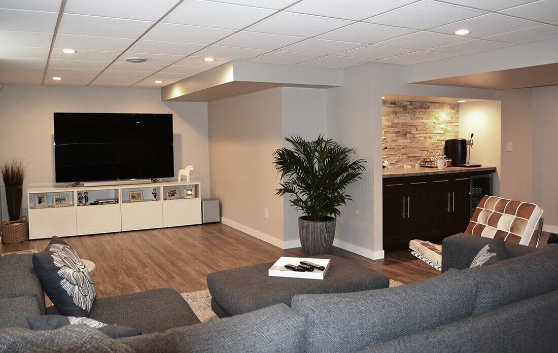 On Average, The Cost To Finish A Basement And Transform Into A Livable  Space Varies From $6,500 To $18,500. Basement Remodeling Projects That  Aimed To ...