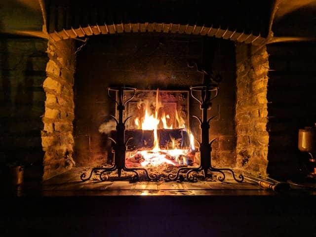 wood fireplace installation